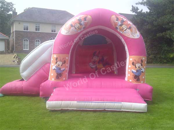 Minnie Mouse Bouncy Castle With Slide