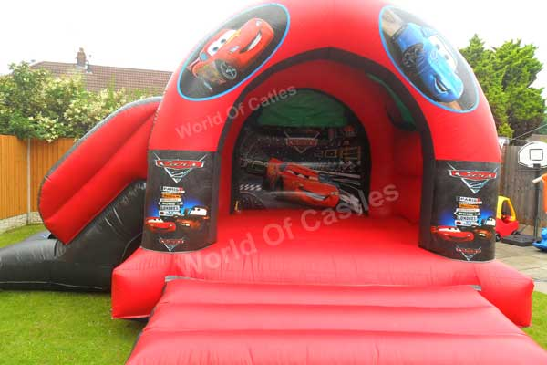Cars Bouncy Castle With Slide