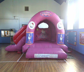 Hello Kitty With Slide Bouncy Castle